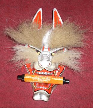 金毛九尾の狐面