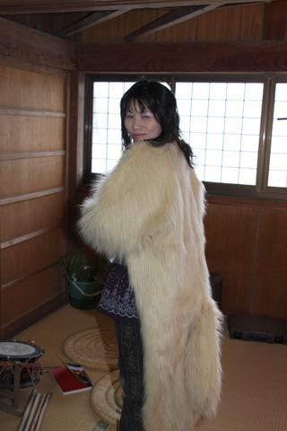 毛皮のコート?
