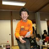 土江子ども神楽団のお年玉をもらい最高の笑顔