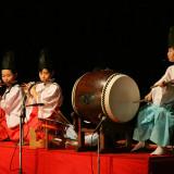 奏楽のすばらしさも土江子ども神楽団の売りです。