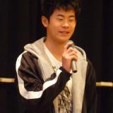 米浦宏君が土江子ども神楽団を代表してみんなに挨拶